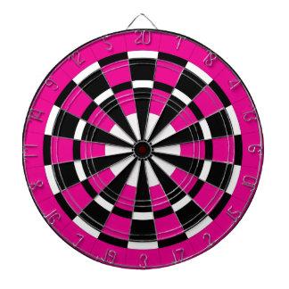 Dartboard negro y blanco rosado tablero dardos