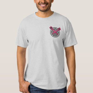 Dartboard Outline Embroidered T-Shirt