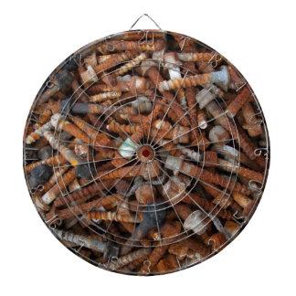Dartboard oxidado de los tornillos tablero de dardos