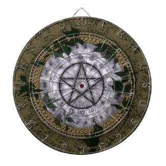Dartboard pagano mágico antiguo del pentáculo