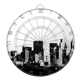 Dartboard panorámico de New York City