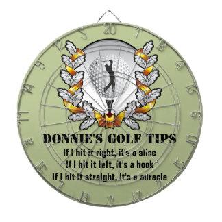 Dartboard personalizado del verde del golfista de  tablero de dardos