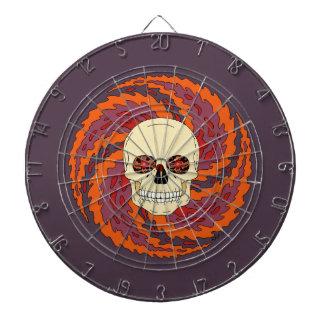 Dartboard psicodélico del cráneo tablero dardos