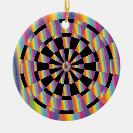 Dartboard psicodélico ornamentos de reyes
