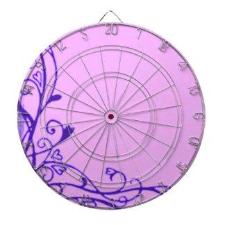 Dartboard retro de la púrpura de la lavanda de las