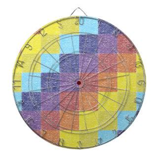 Dartboard retro del remiendo del arco iris