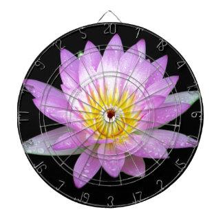 Dartboard rosado de la flor de Lotus Tablero Dardos