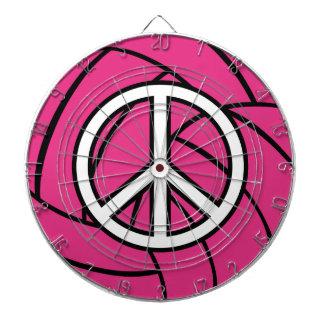 Dartboard rosado del signo de la paz del voleibol