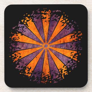 DARTboard shine - 1 orange Violet Grunge Coaster