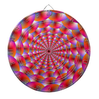 Dartboard  Spiral of Spheres in Pink and Violet