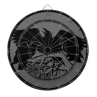 Dartboard tribal fresco del arte del cuervo del Da