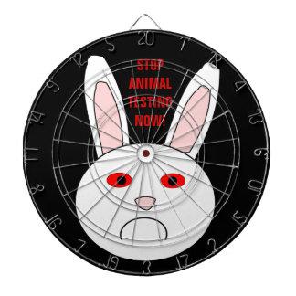 Dartboard triste del conejo del laboratorio tablero dardos