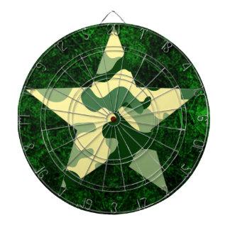 Dartboard verde de la estrella de Camo