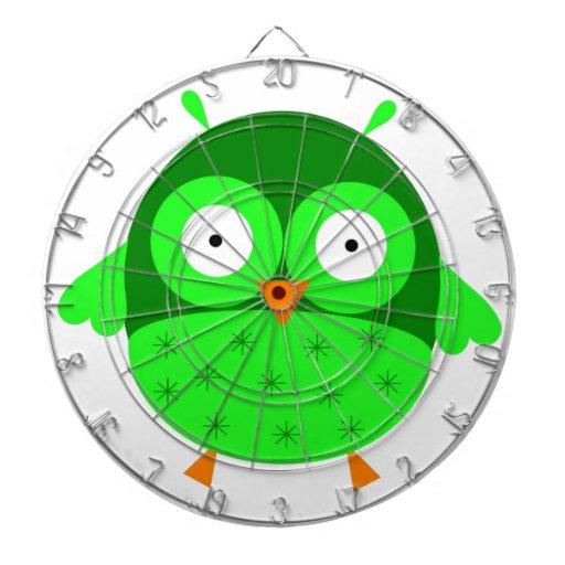 Dartboard verde del búho