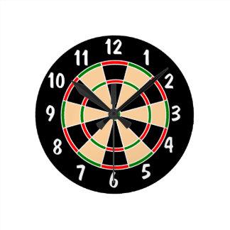 Dartboard Wall Clock. Round Clock