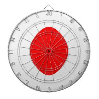 Dartboard with 6 darts Japan flag