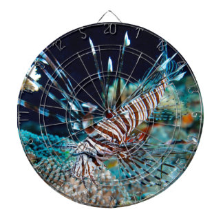 Dartboard with awesome Lionfish print