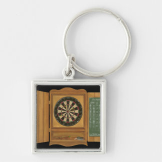 Dartboard with Cricket Scoring Keychain