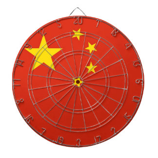 Dartboard with Flag of China
