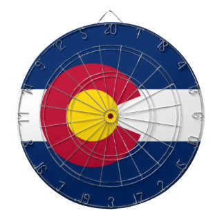 Dartboard with Flag of Colorado, USA
