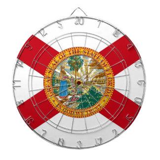 Dartboard with Flag of Florida, USA