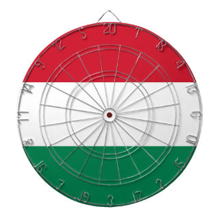 Dartboard with Flag of Hungary