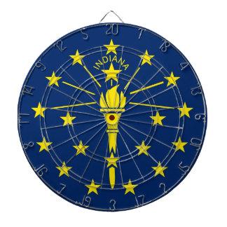 Dartboard with Flag of Indiana, USA