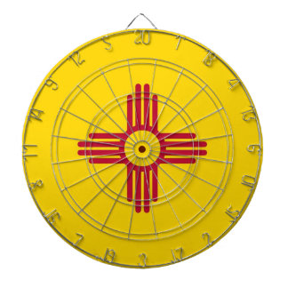 Dartboard with Flag of New Mexico USA