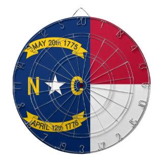 Dartboard with Flag of North Carolina, USA