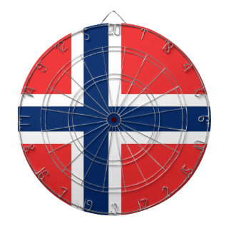Dartboard with Flag of Norway