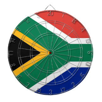 Dartboard with Flag of South Africa