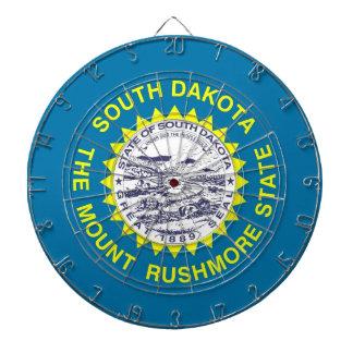 Dartboard with Flag of South Dakota, USA