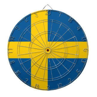Dartboard with Flag of Sweden