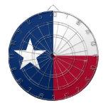 Dartboard with Flag of Texas, USA