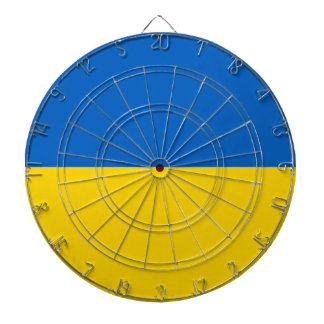 Dartboard with Flag of Ukraine