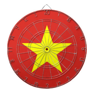 Dartboard with Flag of Vietnam