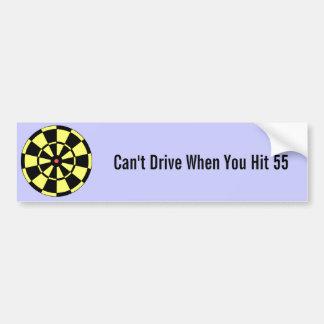 Dartboard Yellow Black Red Bullseye Bumper Sticker