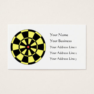 Dartboard Yellow Black Red Bullseye Business Card