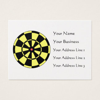 Dartboard Yellow Black Red Bullseye Chubby Card