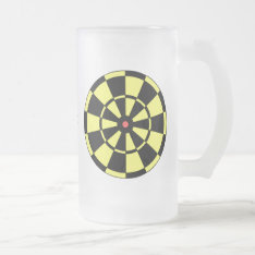 Dartboard Yellow Black Red Bullseye Frosted Glass Beer Mug at Zazzle