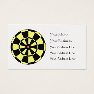 Dartboard Yellow Black Red Bullseye Platinum Card