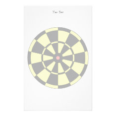Dartboard Yellow Black Red Bullseye Stationery at Zazzle