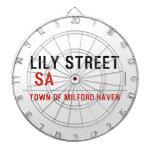 Lily STREET   Dartboards
