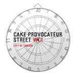 CAKE PROVOCATEUR  STREET  Dartboards