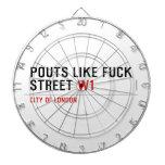 Pouts like fuck Street  Dartboards