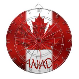 Dartboards del recuerdo de la bandera de Canadá