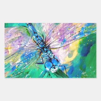 Darter Azul-Con alas Pegatina Rectangular