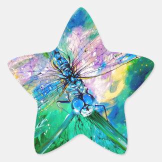 Darter Azul-Con alas Pegatina En Forma De Estrella