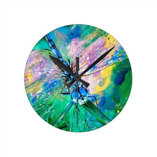 Darter Azul-Con alas Reloj Redondo Mediano
