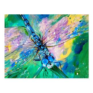Darter Azul-Con alas Postales